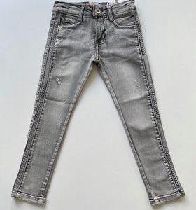 jeansy szare spodnie jeansowe zaazuu dla dziewczynki