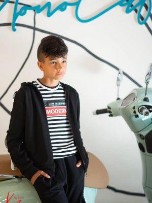 czarny dres dla chłopca kiz bluza rozpinana z kapturem spodnie dresowe