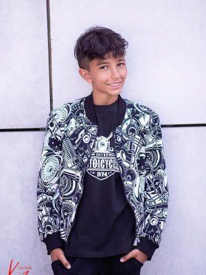 moto bluza kiz bomberka rozpinana dla chłopca