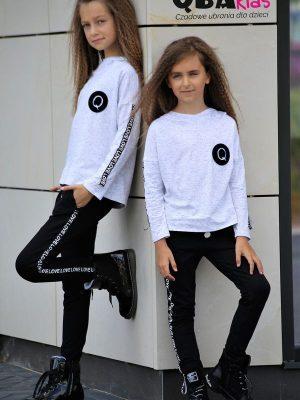 bluza dla dziewczynki qba kids dres spodnie zaazuu