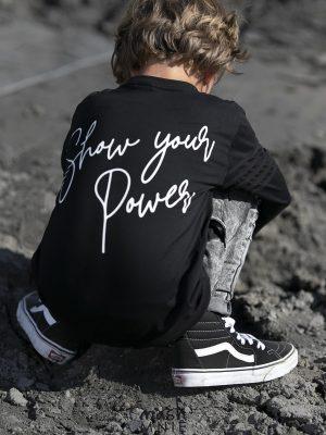 czarna bluza mashmnie dla chłopca