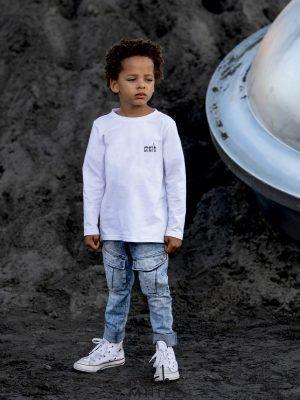 biała bluzka mashmnie dla chłopca zaazuu