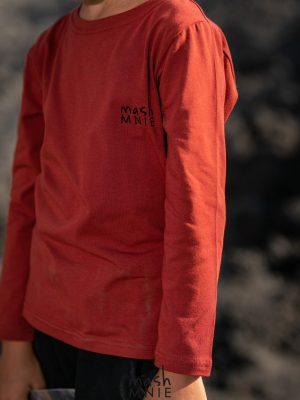 czerwona bluzka mashmnie dla chłopca zaazuu