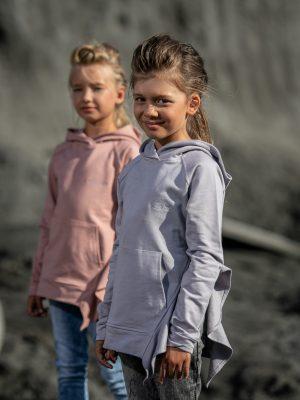 bluza kangurek mashmnie dla dziewczynki kolor różowy różowa zaazuu jesień 2020 zima