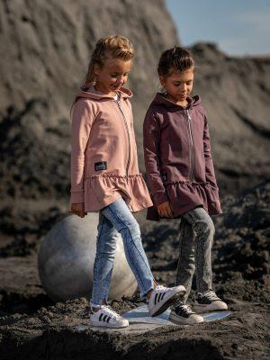 rozpinana bluza z kapturem mashmnie różowa fioletowa zaazuu dla dziewczynki