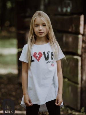 love all for kids biała tunika dla dziewczynki zaazuu bydgoszcz